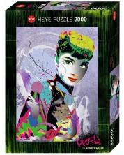Puzzle Heye de 2000 piese - Audrey 2, Johnny Tsieha