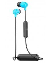 Casti cu microfon Skullcandy - Jib Wireless, albastre