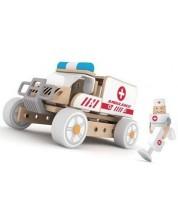 Constructor din lemn 3 in 1 pentru copii Classic World - Ambulanta -1