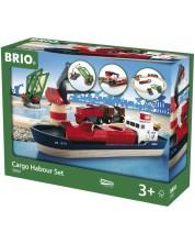 Set Brio - Tren cu sine si accesorii, Port de marfa, 16 piese -1