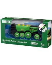 Accesoriu feroviar Brio - Locomotiva, verde -1