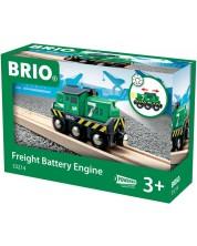 Accesoriu feroviar Brio - Locomotiva, cu lumini -1