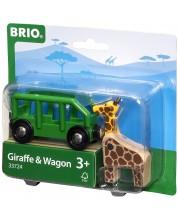 Accesoriu feroviar Brio - Vagon cu girafa -1