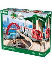 Set Brio - Tren cu sine si accesorii, Travel Switching, 42 de piese -1