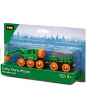 Macara de marfa cu vagon Brio - Clever -1