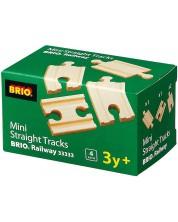 Accesoriu feroviar Brio - Mini sine, drepte, 4 bucati -1