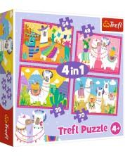 Puzzle Trefl 4 в 1 - Lame in vacanta