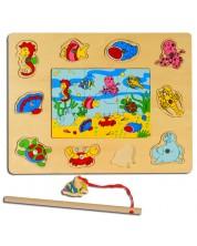 Joc magnetic din lemn Pino – Fundul marii -1