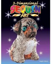 Set creativ KSG Crafts Sequin Art - 3D figurina din paiete, Mops