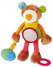 Jucarie de plus Sigikid Baby PlayQ - Ursulet, 25 cm -1