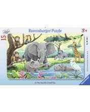 Puzzle  Ravensburger de 15 piese - Animalele Africii