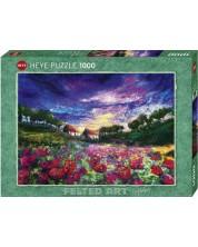 Puzzle Heye de 1000 piese - Apus de soare peste maci, Moy Mackay