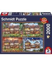 Puzzle Schmidt de 2000 piese - Casa in cele patru anotimpuri
