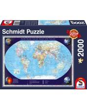 Puzzle Schmidt de 2000 piese - Harta lumii