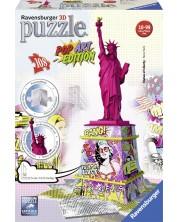 Puzzle 3D Ravensburger cu 108 piese - Statuia Libertatii, Popart -1