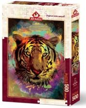 Puzzle Art Puzzle de 500 piese - Tigru, Eren Malchok