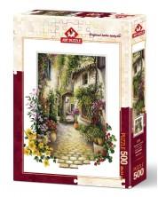 Puzzle Art Puzzle de 500 piese - In micutul sat cu flori, Erik Irwin