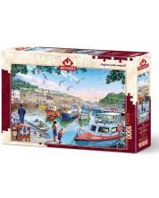 Puzzle Art Puzzle de 1000 piese - Micul pescar in port, Arthuro Zarraga