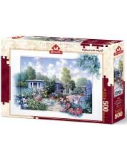 Puzzle Art Puzzle de 500 piese - gradina cu flori, Petar Motz