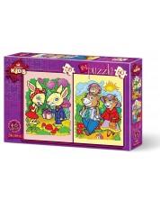 Puzzle Art Puzzle 2 in 1 - Iepuri si familia ursilor
