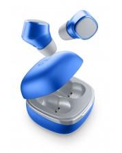 Casti Cellularline - Evade, true wireless, albastre
