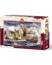 Puzzle Art Puzzle de 1500 piese - Razboiul vapoarelor, Almar Zaadstra