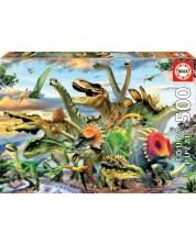 Puzzle Educa de 500 piese - Dinozauri