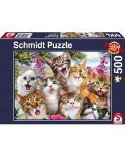 Puzzle Schmidt de 500 piese - Cat Selfie