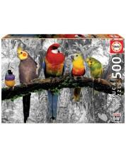 Puzzle Educa de 500 piese - Birds on the Jungle