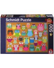 Puzzle Schmidt de 500 piese - Bufnite
