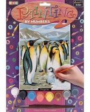Set creativ de desen KSG Crafts - Capodopera, Pinguini -1