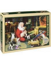 Puzzle Cobble Hill de 1000 piese - E timpul de joaca cu Mos Craciun, Tom Newesom