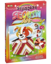 Set creativ KSG Crafts Sequin Art Stardust - Arta cu paiete si brocart, Catel -1