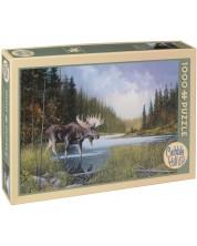 Puzzle Cobble Hill de 1000 piese - Lacul elanilor, Douglas Laird