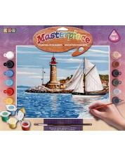 Set creativ de desen KSG Crafts - Capodopera, Barca cu panze -1