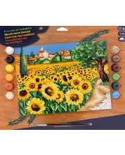 Set creativ de desen KSG Crafts - Capodopera, Floarea soarelui -1