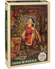 Puzzle Cobble Hill de 1000 piese - Prezenta de Craciun, Miles Pinckney
