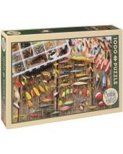 Puzzle Cobble Hill de 1000 piese - Scule de pescuit