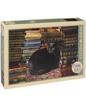 Puzzle Cobble Hill de 1000 piese - Pisica din biblioteca
