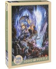 Puzzle Cobble Hill de 1000 piese - Dragonul de gheata, Matthew Stuart