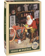 Puzzle Cobble Hill de 1000 piese - Masina zburatoare a lui Mos Craciun, Tom Newesom