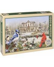 Puzzle Cobble Hill de 1000 piese - Casuta pentru pasari, Greg Giordano