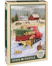 Puzzle Cobble Hill de 1000 piese - Craciun la ferma