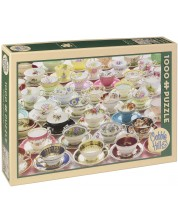 Puzzle Cobble Hill de 1000 piese - Mai multe cani de ceai