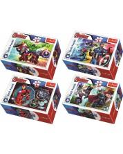 Mini puzzle Trefl de 54 piese - Eroii Marvel, sortiment