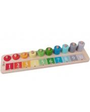Tabla de numarat din lemn pentru copii Classic World -1