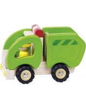 Jucarie din lemn Goki - Camion de gunoi -1