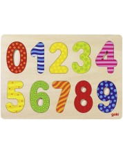Puzzle din lemn Goki - Numerele de la 0 la 9 -1