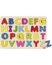Puzzle din lemn Goki - Puzzle alfabetic -1