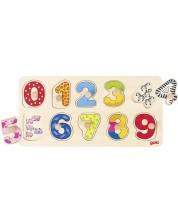 Puzzle din lemn Goki - Invata sa numeri -1